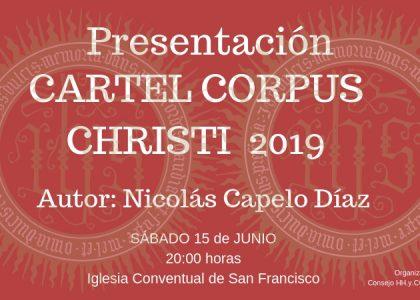 CARTEL ACTO PRESENTACIÓN CARTEL CORPUS CHRISTI 2019